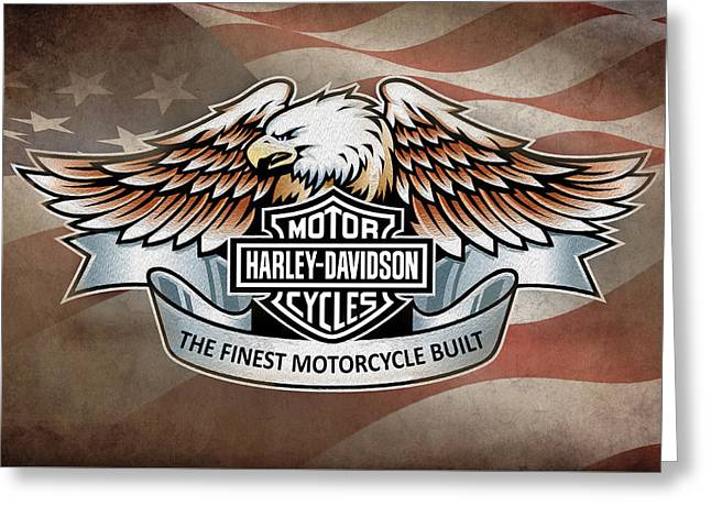 Harley Davidson Greeting Cards - The Finest Motorcycle Built Greeting Card by Mark Rogan