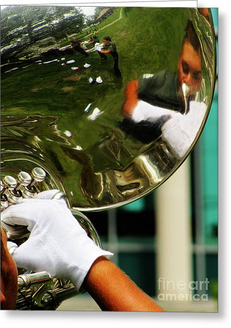 Marching Band Greeting Cards - The Finest Tuba The Sweetest Sound Greeting Card by Ron  Tackett