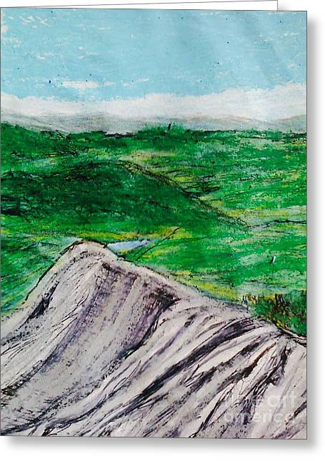Finger Lakes Drawings Greeting Cards - The Finger Lakes  Greeting Card by Christine Degyansky