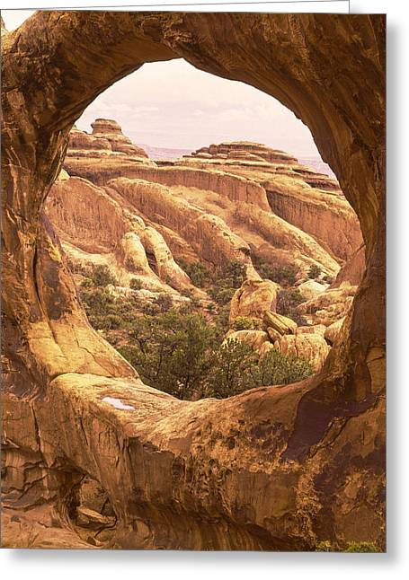 Double O Arch Greeting Cards - The Fins through Double O Arch Greeting Card by Craig Ratcliffe
