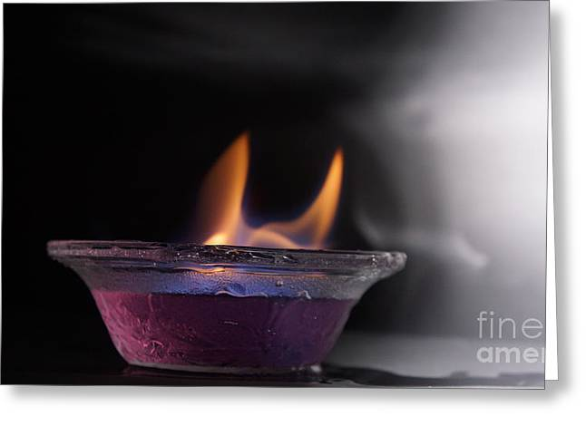 Fire Pyrography Greeting Cards - The Fire. Greeting Card by Idris Rabee