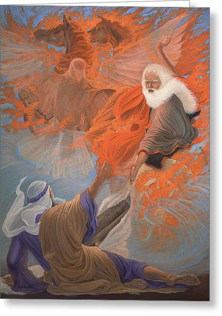 Pentecost Paintings Greeting Cards - The Fire Greeting Card by Leslie Young Marks