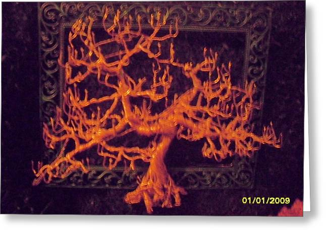 Wire Sculptures Greeting Cards - The Fire Of Life Greeting Card by Brian Boyer