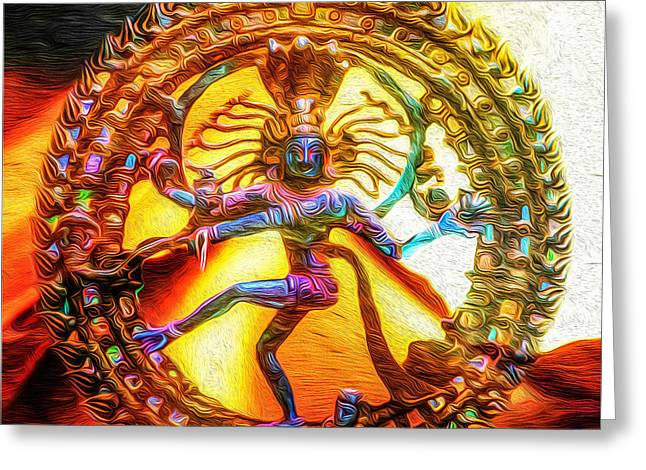 Goddess Durga Digital Art Greeting Cards - The Fire of Shiva Greeting Card by Tarik Eltawil