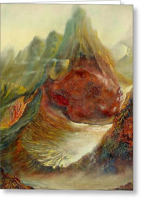 Gorecki Greeting Cards -  Mountains Fire Greeting Card by Henryk Gorecki