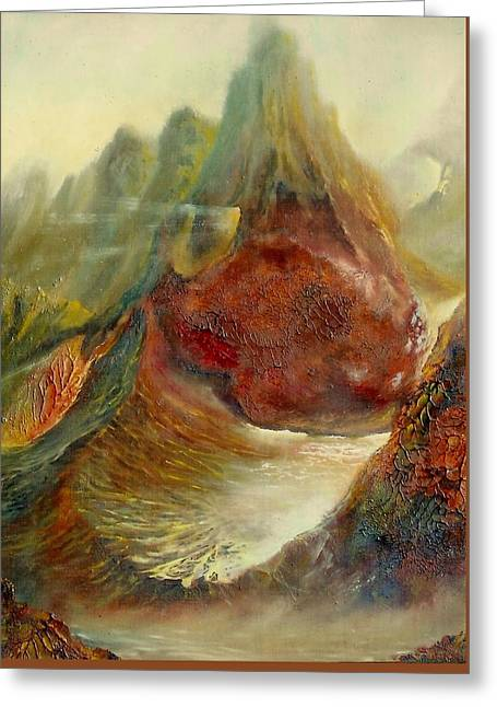Henryk Greeting Cards -  Mountains Fire Greeting Card by Henryk Gorecki