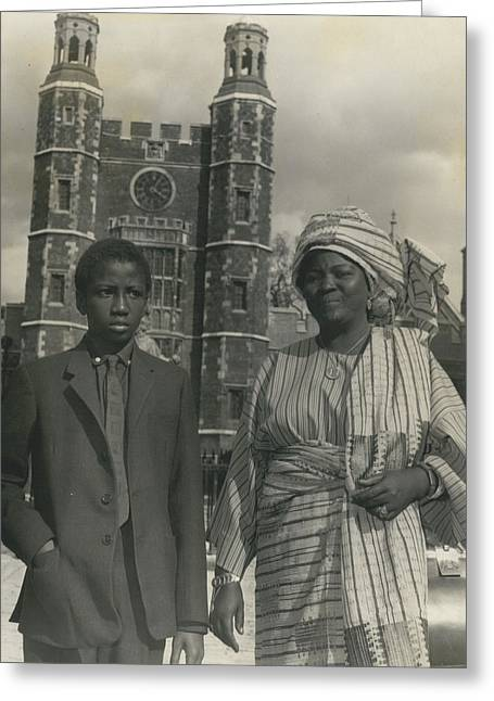Archive Greeting Cards - The First African Arrives At Eton. Greeting Card by Retro Images Archive