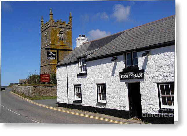 The First and Last Inn in England Greeting Card by Terri  Waters