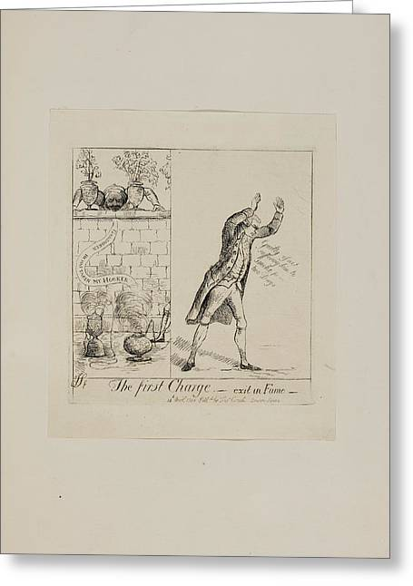 The First Charge - Exit In Fumo Greeting Card by British Library
