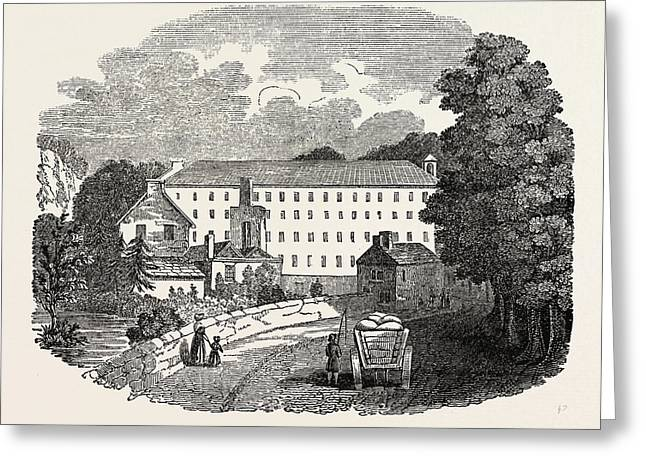 The First Cotton Mill At Cromford, Derbyshire Greeting Card by Litz Collection