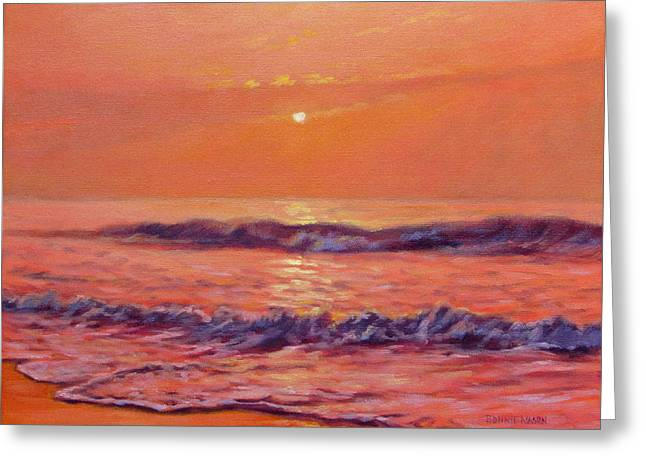 Loose Greeting Cards - The First Day-Sunrise on the Beach Greeting Card by Bonnie Mason