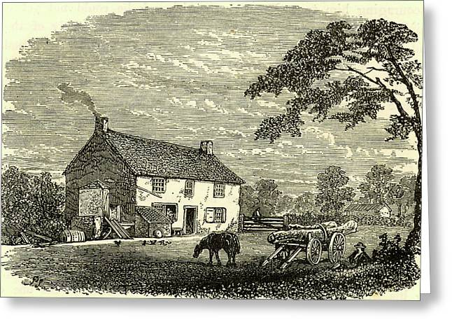 The First House Of George Stephenson Greeting Card by Universal History Archive/uig