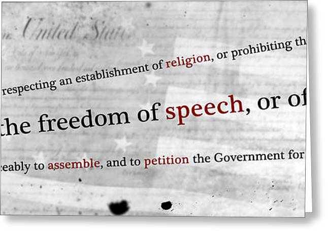 First Amendment Digital Greeting Cards - The First Greeting Card by Peter Hull