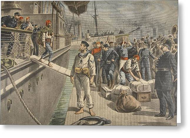 Us History Drawings Greeting Cards - The First Prisoners At Key West Greeting Card by French School