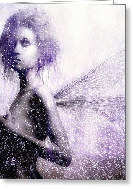 The First Spring Fairy Greeting Card by Gun Legler