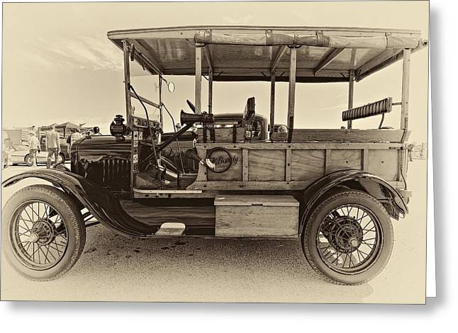 Ford Model T Car Greeting Cards - The First Woodie antique Greeting Card by Steve Harrington