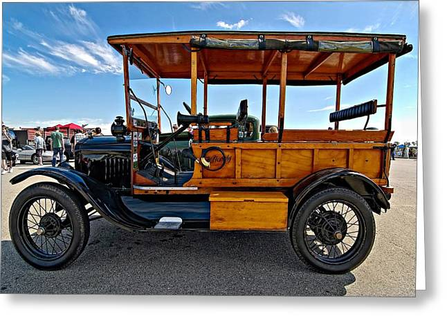 Best Sellers -  - Ford Model T Car Greeting Cards - The First Woodie Greeting Card by Steve Harrington