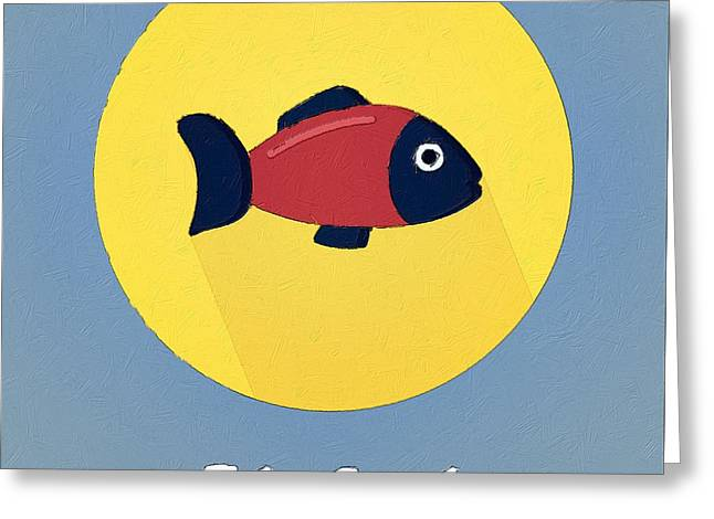 Suburban Posters Greeting Cards - The Fish Cute Portrait Greeting Card by Florian Rodarte