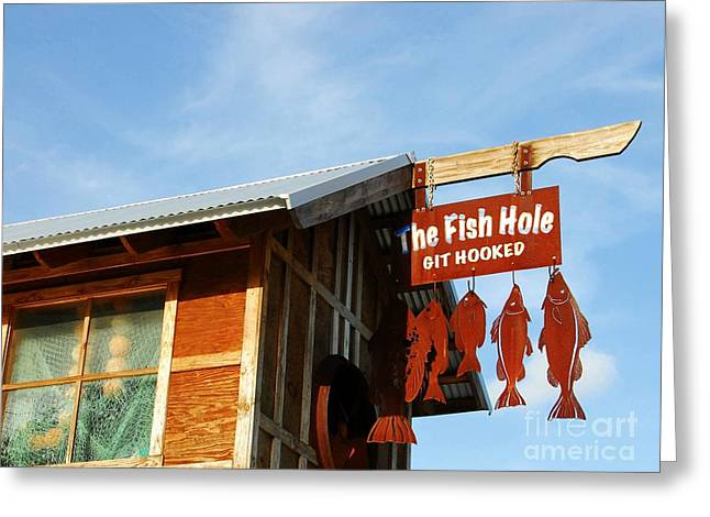 Catch Of The Day Greeting Cards - The Fish Hole Greeting Card by Mel Steinhauer