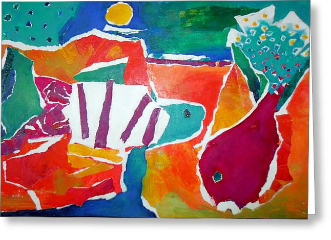 Diane Fine Greeting Cards - The Fish in the Sea Greeting Card by Diane Fine