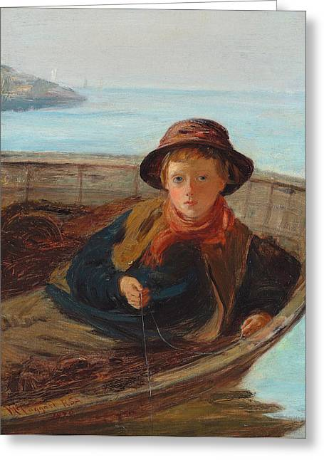 Sit-ins Paintings Greeting Cards - The Fisher Boy Greeting Card by William McTaggart