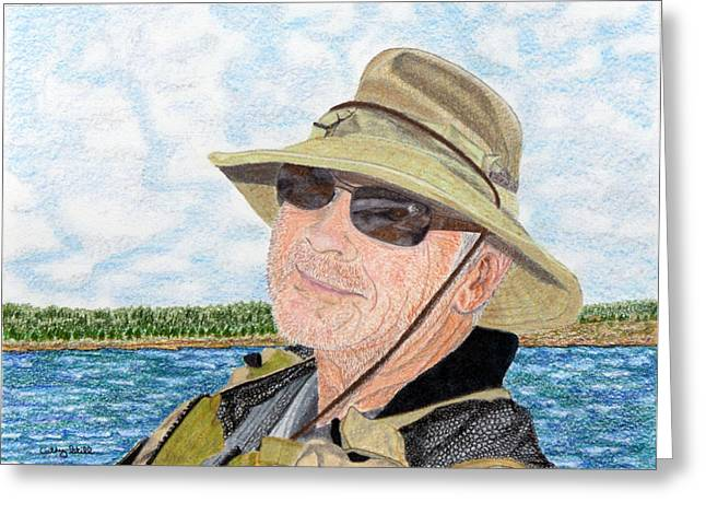 Gray Hair Drawings Greeting Cards - The Fisherman Greeting Card by Cathy Still