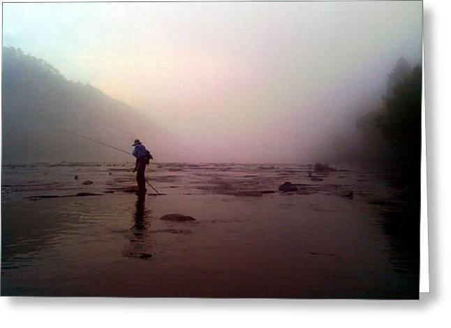 Dwayne Gresham Greeting Cards - The Fisherman Greeting Card by Dwayne Gresham