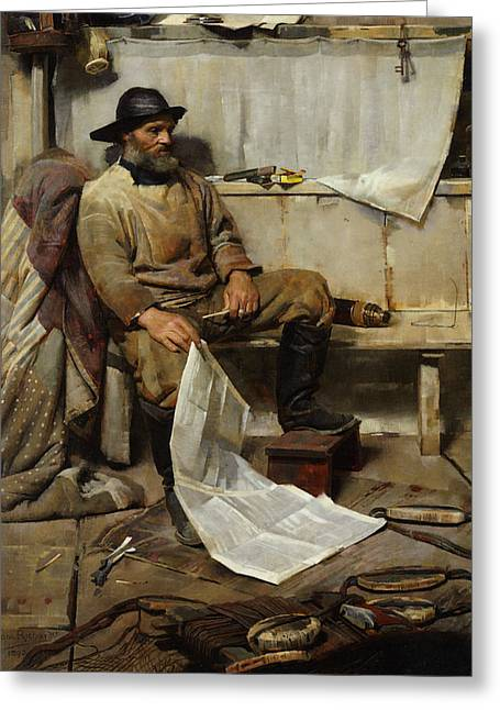 Old Masters Greeting Cards - The Fisherman Greeting Card by Frank Richards