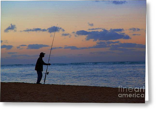 Get Well Card Framed Prints Greeting Cards - The Fisherman Greeting Card by Jon Burch Photography