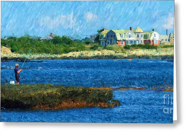 Ocean Vista Greeting Cards - The Fisherman Greeting Card by Mike Nellums