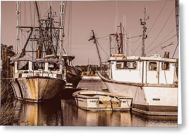 The Fisherman's Office Greeting Card by Chris Modlin