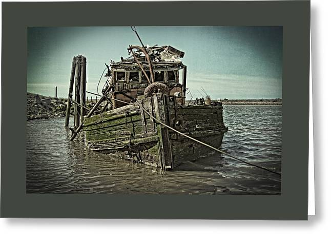 Fishing Boats Greeting Cards - The Fishing Boat Wreak Greeting Card by Thom Zehrfeld