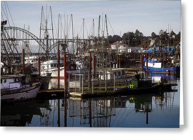 Best Sellers -  - Fishing Boats Greeting Cards - The Fishing Fleet Greeting Card by Thom Zehrfeld