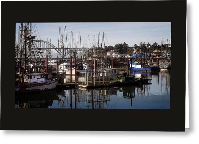 Seascape Art Greeting Cards - The Fishing Fleet Greeting Card by Thom Zehrfeld