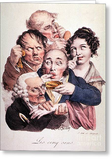 Boilly Greeting Cards - The Five Senses Greeting Card by Science Source