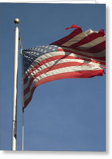 Guy Ricketts Photography And Art Greeting Cards - The Flag That Could Never Die Greeting Card by Guy Ricketts