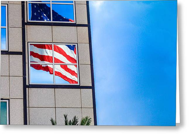 The Flag that Never Hides Greeting Card by Rene Triay Photography