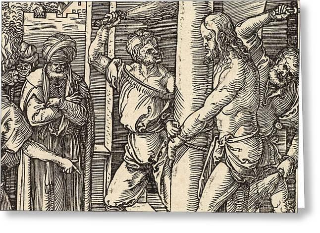 The Flagellation Greeting Card by Albrecht Durer