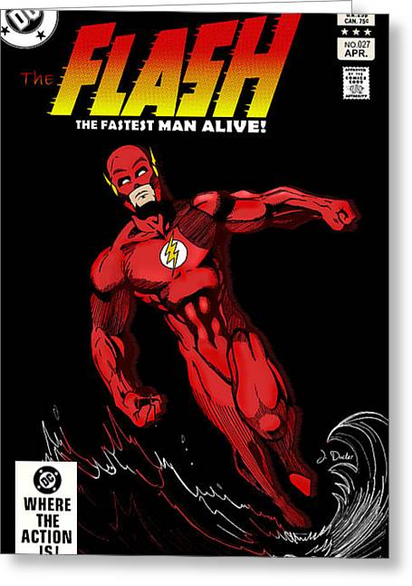 Dc Comics Greeting Cards - The Flash Greeting Card by Mark Rogan