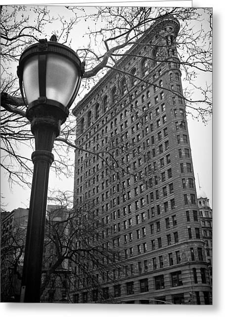 Historical Pictures Greeting Cards - The Flatiron Building in New York City Greeting Card by Ilker Goksen