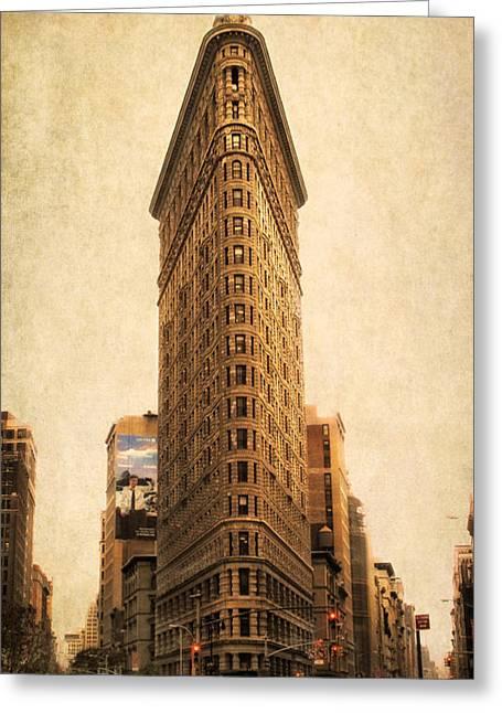 Flat Iron Building Greeting Cards - The Flatiron Building Greeting Card by Jessica Jenney