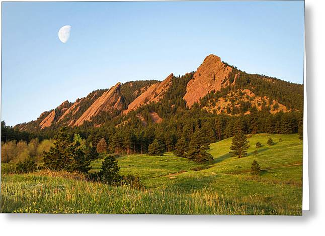 Front Range Greeting Cards - The Flatirons - Spring Greeting Card by Aaron Spong