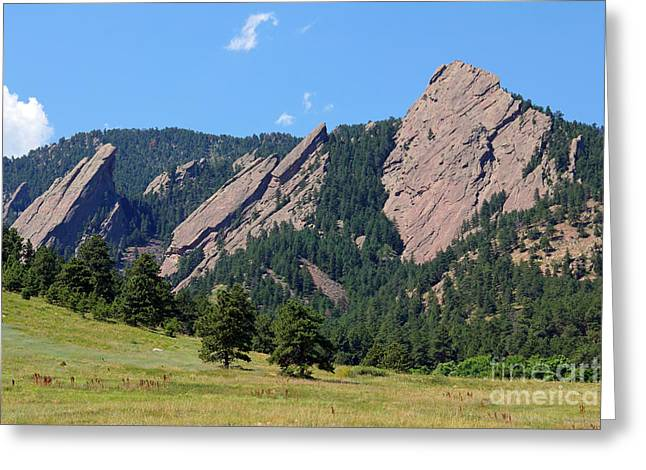 Colorado Greeting Cards - The Flatirons Greeting Card by Bob Hislop