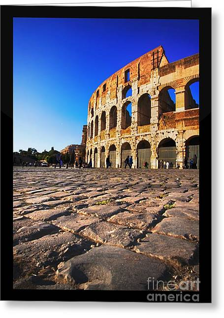 Social Life Photographs Greeting Cards - The Flavian Amphitheatre Greeting Card by Stefano Senise