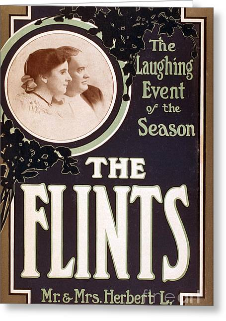 The Seer Greeting Cards - The Flints, American Hypnotists Greeting Card by Photo Researchers