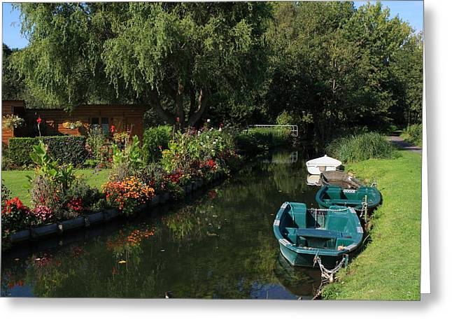 River Of Life Greeting Cards - The Floating Gardens Greeting Card by Aidan Moran