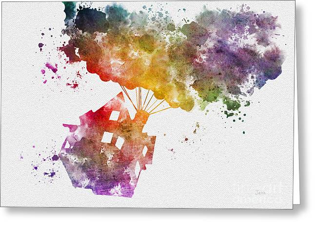 Floating House Greeting Cards - The Floating House Greeting Card by Rebecca Jenkins
