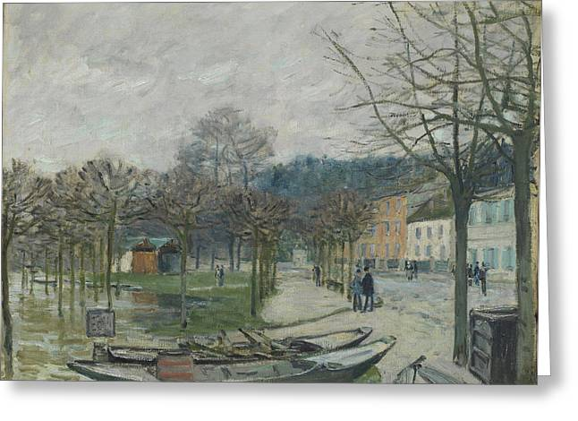 Marly Greeting Cards - The Flood At Port-marly, 1876 Greeting Card by Alfred Sisley