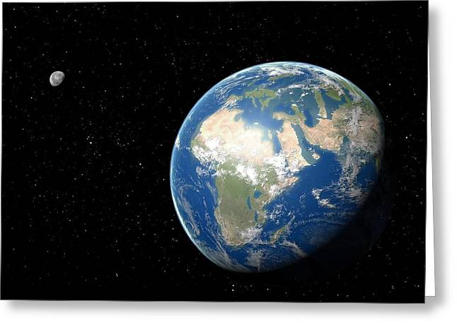 Flooding Greeting Cards - The Flooded Earth with High Sea Levels Greeting Card by Science Photo Library