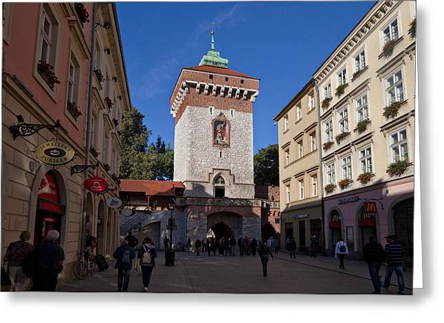 Enterprise Greeting Cards - The Florianska Gate, Krakow, Poland Greeting Card by Panoramic Images